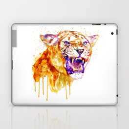 Angry Lioness Laptop & iPad Skin