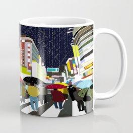 Umbrellas in Tokyo Rain Coffee Mug