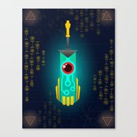 transistor Canvas Prints featuring Transistor by CyberneticGhost