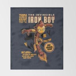 THE INVINCIBLE IRON BOY Throw Blanket