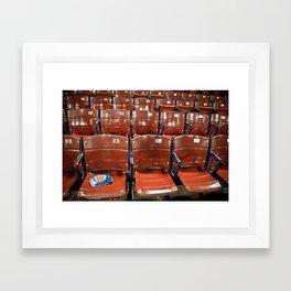 Fenway Park Seats Framed Art Print