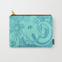 Ganesha Lineart Aquamarine Carry-All Pouch