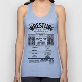 #14 Memphis Wrestling Window Card Unisex Tank Top
