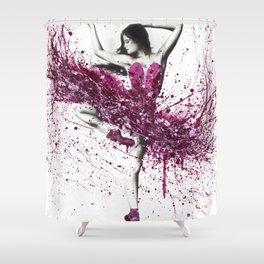 Royal Rubellite Ballerina Shower Curtain