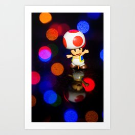 Dancing toad Art Print
