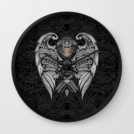 White Bird Aztec Pattern Wall Clock