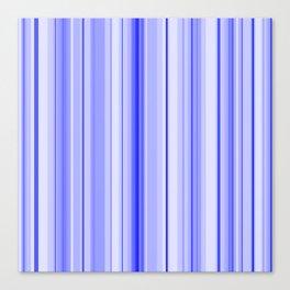 Blue Vertical Stripe Canvas Print