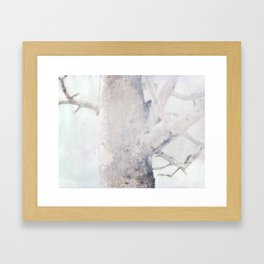 Train Station Tree Framed Art Print