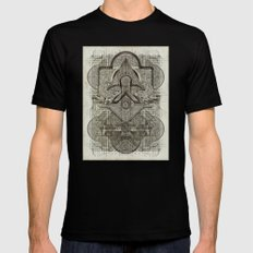 Second Chakra LARGE Black Mens Fitted Tee