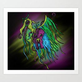 Dark Monster Art Print