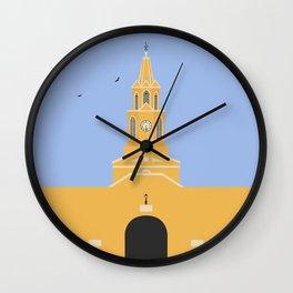 Cartagena, Colombia | Ciudad Amurallada - Walled City Clock Tower Gate Entrance Wall Clock