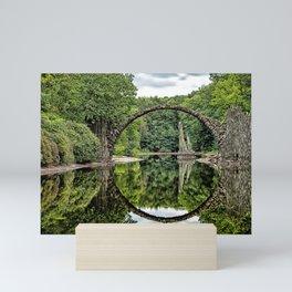 Historic Devil's Bridge Teufelsbrücke Azalea and Rhododendron Park Kromlau Gablenz Saxony Ultra HD Mini Art Print