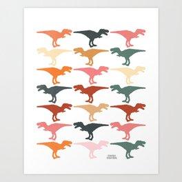 Dinomania G Art Print