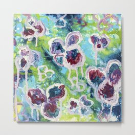 Girls just wanna have fun- Abstract Flower - Painting Metal Print