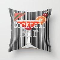 bar Throw Pillows featuring Cocktail Bar by Sartoris ART