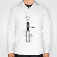 blueprint Hoodies featuring Lightsaber Blueprint by GNS GRAPHIC