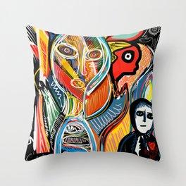Graffiti Street Art Le Monde Tarot by Emmanuel Signorino   Throw Pillow