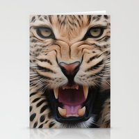leopard Stationery Cards featuring Leopard   by Brian Raggatt