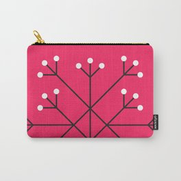 Mod Snowflake Hot Pink Carry-All Pouch