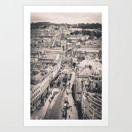 Bath Overlook (B+W) Art Print