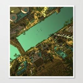 Jungle Ruins Canvas Print