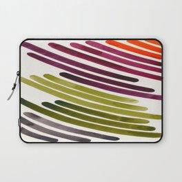 Triad Color Harmony Purple Orange Green Watercolor Stripes Laptop Sleeve