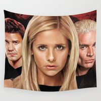 buffy Wall Tapestries featuring Buffy The Vampire Slayer  by SB Art Productions