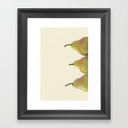 Tripple Pear Framed Art Print