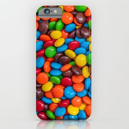 Colorful Candy-Coated Chocolate Pattern iPhone Case