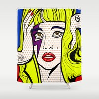 lichtenstein Shower Curtains featuring ARTPOP by Alli Vanes