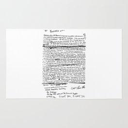 Suicide Letter Nirvana Rug