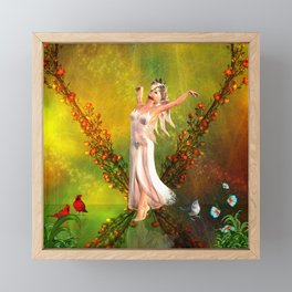 Beautiful fairy Framed Mini Art Print