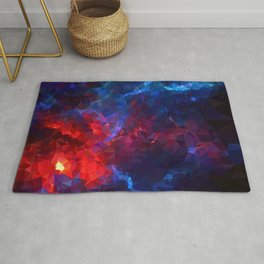 Geometric red galaxy Rug