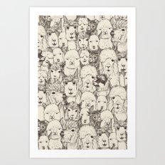 just alpacas natural Art Print