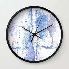 Lavender blurred watercolor design Wall Clock