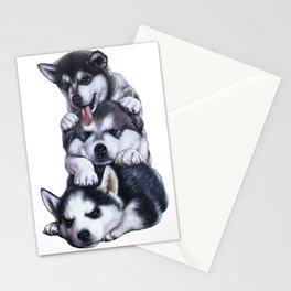Malamute Puppies Stationery Cards