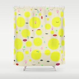 Boom print Shower Curtain