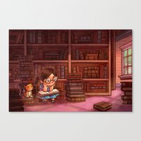 library Canvas Prints featuring Library by Dani Jones