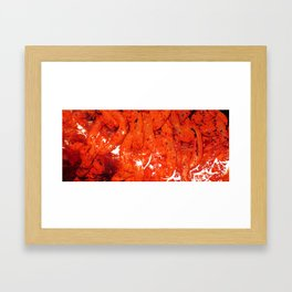 Red Abstract Art - Linked - By Sharon Cummings Framed Art Print