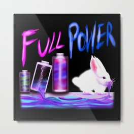 FULL POWER Metal Print