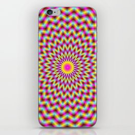 Rosette in Pink Yellow and Blue iPhone Skin