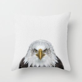 Bald Eagle Print, American Eagle, Bird Animal Photography, Minimalist Throw Pillow