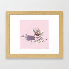 Candy Hearts Cart Framed Art Print