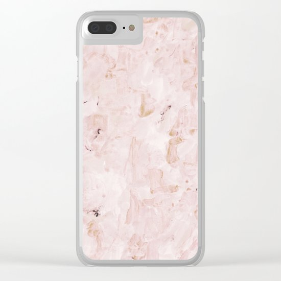 abstract-soft pink Clear iPhone Case