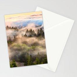 Coastal Fog Over Mount Tamalpais Stationery Cards