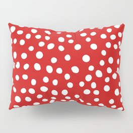 Red and white doodle dots Pillow Sham