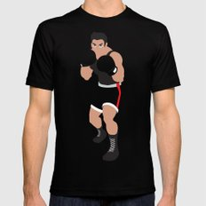 Little Mac - Minimalist - Mike Tyson's Punch Out Mens Fitted Tee Black MEDIUM