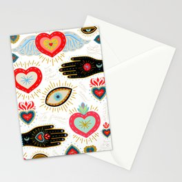 Milagro Love Hearts - White Stationery Cards