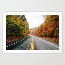 Fall Drive 006 Art Print