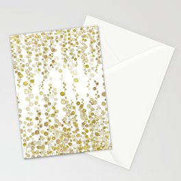 golden string of pearls watercolor Stationery Cards